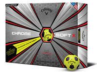 Callaway Chrome Soft X Truvis 2018 Golf Balls - Yellow/Black