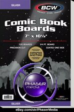 50 BCW Silver Comic Book Boards Backer Backing for Bags 1-BBSIL