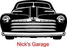 Personalized Name & Classic Car Wall Sticker Wall Art Decor Vinyl Decal Murals