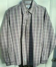Mens Long Sleeve Shirt Enro Size L excellent condition! Non Iron Pinpoint Cotton