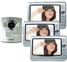 kit videocitofono Interfono per casa a più livelli: 3 monitor e Telecamera