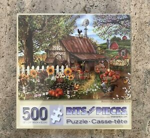 Bits & Pieces BOUNTIFUL MEADOWS FARM 500 Piece Jigsaw Puzzle Sealed Rooster