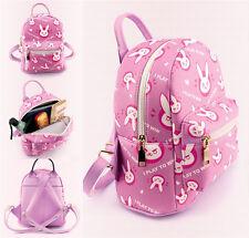 Japan Anime Game OW Overwatch D.VA Cosplay Gift Backpack Pink Zipper Schoolbag