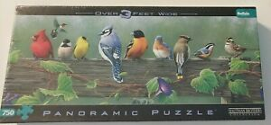NEW SEALED HAUTMAN BROTHERS PUZZLE:SONGBIRDS PANORAMIC-OVER 3 Ft WIDE-750 PIECES
