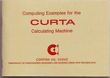 CURTA-Computing Examples for the CURTA Calculator (Livret in English Language)