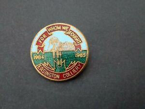 EASINGTON COLLIERY NUM, FOR WHOM WE FOUGHT, 1984-85 MINERS STRIKE ENAMEL BADGE