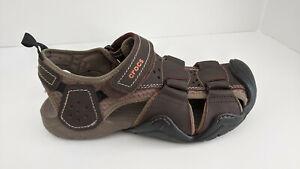 Crocs Swiftwater Fisherman Sandals, Brown, Men's 8 M