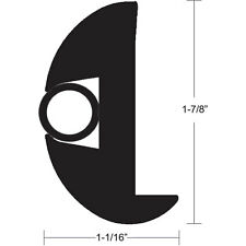 "TACO 50FT Flexible Flex Vinyl Boat Rub Rail Kit Black with Insert 1-7/8""x1-1/16"""