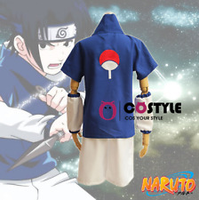 Cafiona Naruto Uchiha Sasuke Cosplay Costume Loose Summer Outfits Boy US SHIP!!!