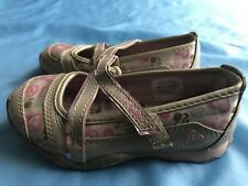 Barbie slide on flats girls shoes hook and loop fasten us size 9c gold and pink