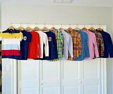 Ralph Lauren Polo Boys M 10 12 Shirt Lot Oxford Dress Plaid Sweater Crewneck Top