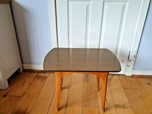Retro Mid Century Small Wood and Laminate Coffee/Lamp Table