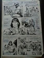 planche originale conan - john buscema