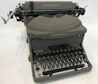 Vintage Antique HEAVY Steel UNDERWOOD #24 Metal Mechanical Typewriter NEEDS WORK