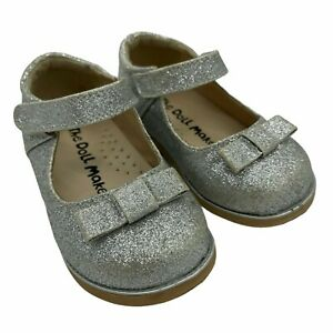 The Doll Maker Sparkle Bow Mary Janes Size 7