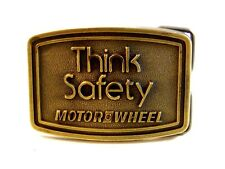 Vintage Thank Safety Motor Wheel Belt Buckle