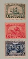 Scott#: 548-550 - 1920 Pilgrim Tercentenary Mint NH OG Single Stamp Set - Lot 1