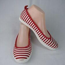 Rocket Dog 7.5 Red Striped Ballet Flats