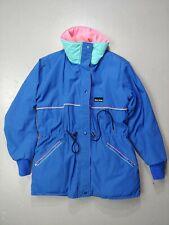 Blue Skys Vintage Jacket Coat Women's Medium Pink Teal old school snow faded