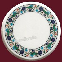 Parrot Pattern Inlay Corner Table Top Luxurious Marble Coffee Table with Stone