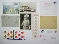 Lot French Postcards Stamps Letter Le Havre, Cuirasse Jean-Bart, BAP Jules Vern