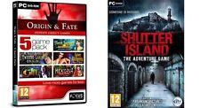 Origine et destin - 5 game pack & shutter island new & sealed
