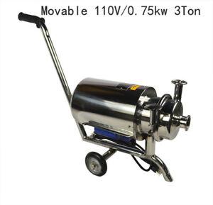 Updated 1 PC 110V 3 Ton 304 Food Grade Centrifugal Pump Sanitary Beverage Pump
