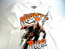 Marvel Thor T-Shirt The Dark World Boys Kids Short Sleeve White Size M (8) New
