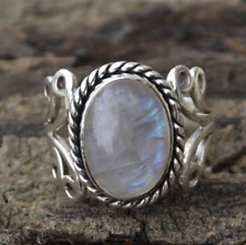 Oval MOONSTONE Sterling Silver 925 Gemstone RING