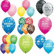 "6 x 27.5cm (11"") HAPPY BIRTHDAY Qualatex Latex Balloons - Party Themes Designs"