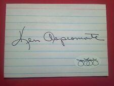 Ken Aspromonte Cut Index Card Autograph   JSA   Signed  Auto