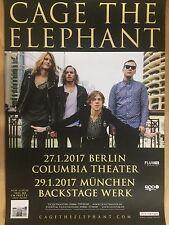 CAGE THE ELEPHANT  2017 TOUR  + orig.Concert Poster -- Konzert Plakat  A1 NEU