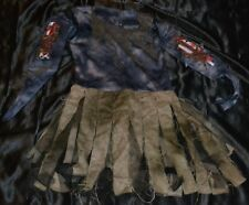 Girl Zombie Undead Halloween Costume Fits Kids Size 8-9-10 Outfit Dress Up