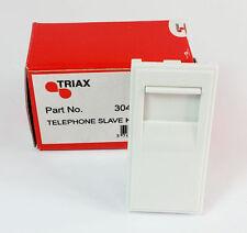 New Telephone Slave socket (Krone) White Module Triax Easy Instal UK Stock