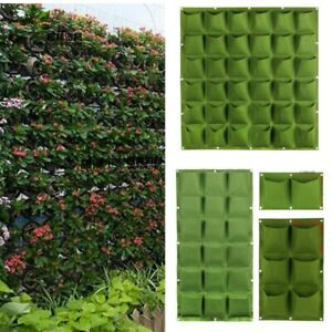 Vertical garden Plant flower Grow Bag fabric 36 72 pockets wall Hanging Planting