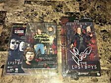 The Lost Boys Movie Signed Action Figure Lot Set Jason Patrick Kiefer Sutherland