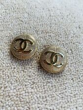 Vintage Chanel Buttons X 2 Coco CC Gold Coloured