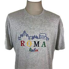 Vintage 80s Screen Stars Gray Roma Italia Italy Single Stitch Men's Xl T Shirt