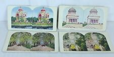 Calif New York St Louis Florida 1898 1903 TW Ingersoll Color Stereoscope Lotof 4