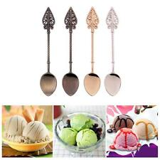 4Pcs Royal Style Carved Vintage Kitchen Bar Mini Dessert Coffee Ice Cream Spoon