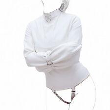 Bondage, Fetish Strict Faux Leather Premium Straight Jacket - White 8034
