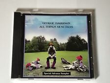 GEORGE HARRISON ~ ALL THINGS MUST PASS ~SPECIAL ADVANCE SAMPLER PROMO CD ~ 2001