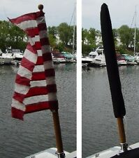 """Large Flag Cover Sheath for 30"""" Tall Flag Available in 16 Sunbrella Colors"""