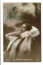 CPA-Carte Postale France-Une jeune femme pensant à son amoureux soldat