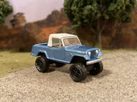 1970 Jeep Jeepster 4x4 Truck Lifted 1/64 Diecast Custom Farm Off Road Mudder 4WD
