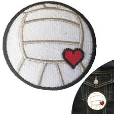 Volleyball love Iron on patch - beach volley ball sport heart embroidery patches