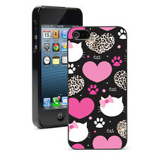 For Apple iPhone X SE 5s 6 6s 7 8 Plus Hard Case Cover 1356 Cats Leopard Hearts