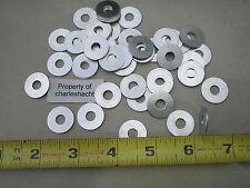 """1/4"""" Aluminum Flat Washers 100 Pcs / New Old Stock / Free Shipping / Bulk"""