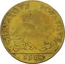 O3522 RARE R2 Jeton Henri III Regente Catherine Medicis Poule Serpent 1582