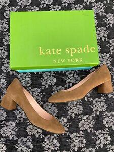 Kate Spade Beverly Taupe Kid Suede Heels Pump Size 9 M